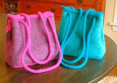 Felted Handbag Work Free Pattern The Coco Bag