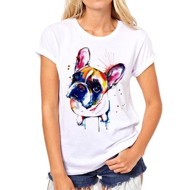 Abstract Dog TShirt Women SPCA T shirts for women