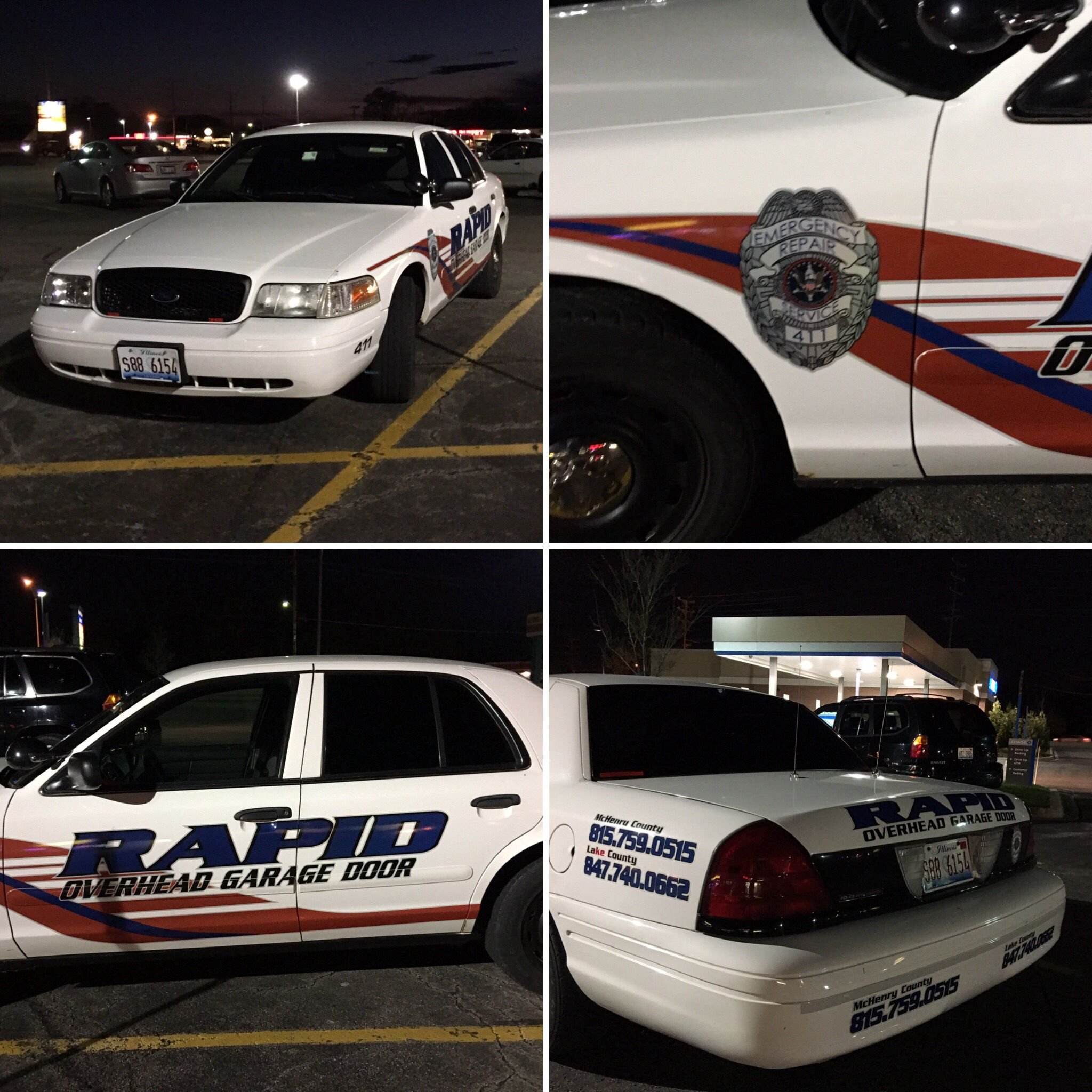 Ford Crown Victoria Rapid Overhead Garage Door It S A Private Service Company Vehicle Made To Look Like Police Car What Do You Think Of This By Library