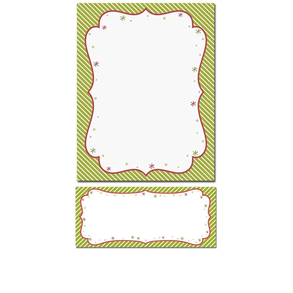 Peppermint Twist Letterhead With Matching Envelopes  Peppermint