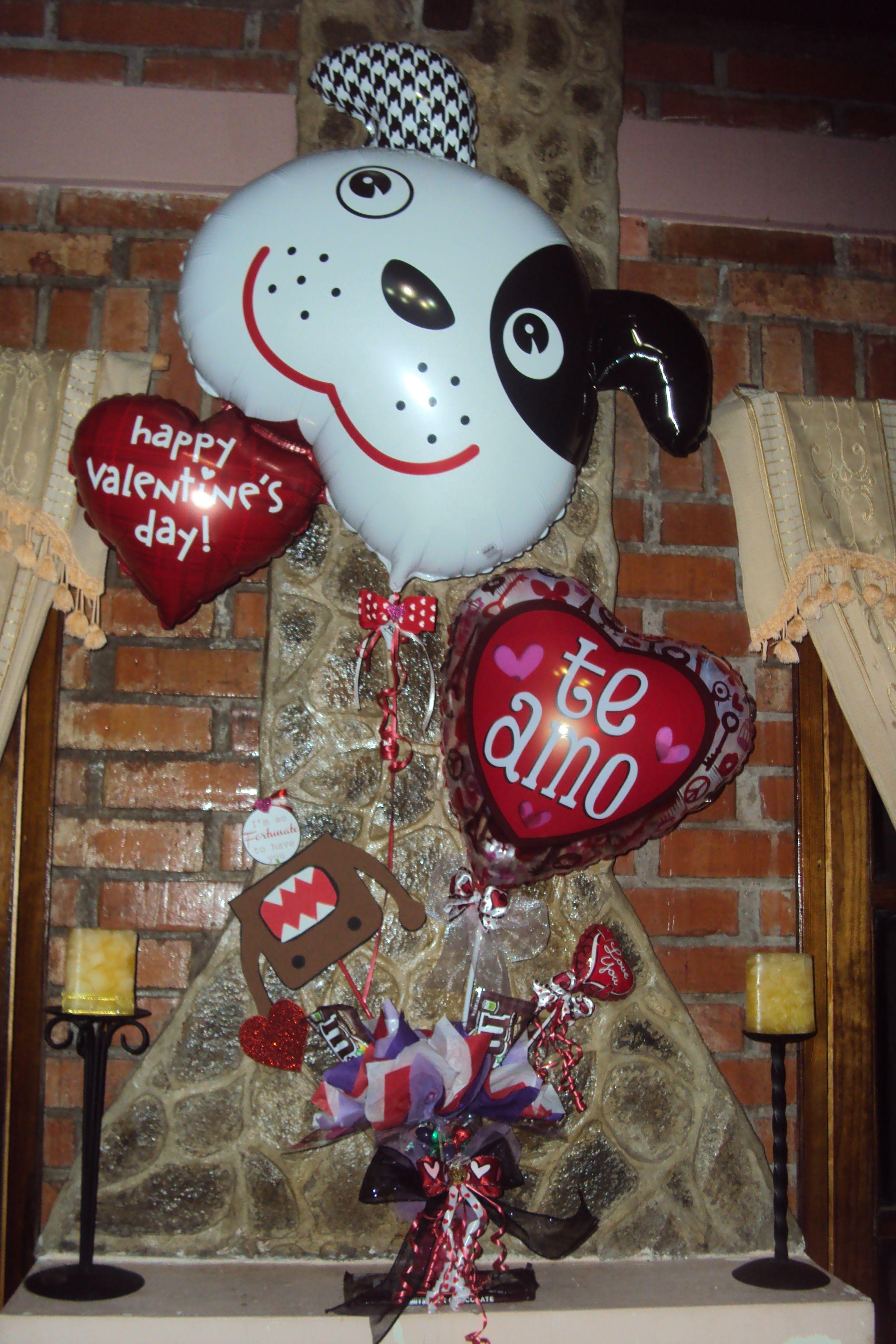 Arreglo de globos y dulces para día del amor y la amistad #valentines #love