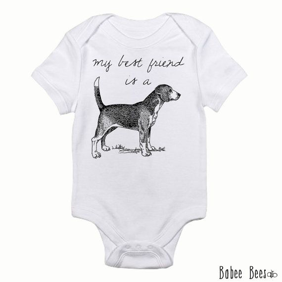 My Best Friend Is A Beagle Trendy Baby Clothes Beagle Lover Gift