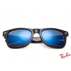 ray ban rb8381 wayfarer sunglasses with black frame and blue lenses rh pinterest com
