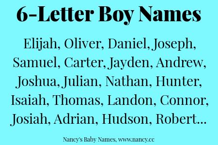 6-Letter Boy Names