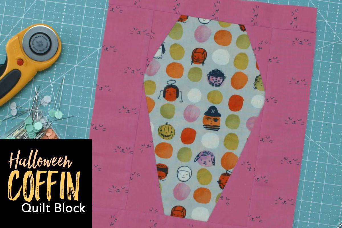 Halloween Coffin Quilt Block Halloween Coffin Quilt Blocks Halloween Sewing