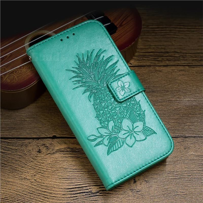 Embossing Flower Pineapple Leather Wallet Case for iPhone 8 / 7 (4.7 inch) - Mint Green - Leather Case - Guuds #leatherwallets