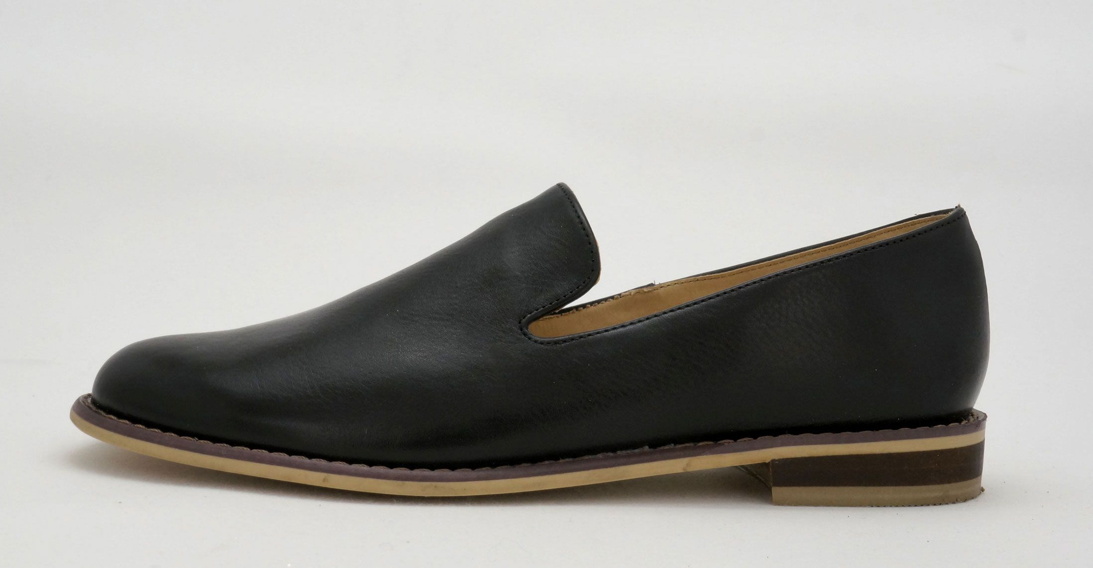 Aeroflex Black Slip On Genuine Leather Shoes Leather Shoes Woman Black Slip Ons Genuine Leather Shoes