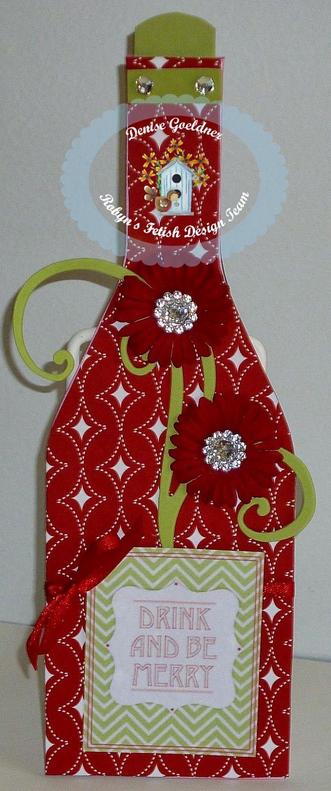wine bottle shaped card | cutting cafe ideas | pinterest