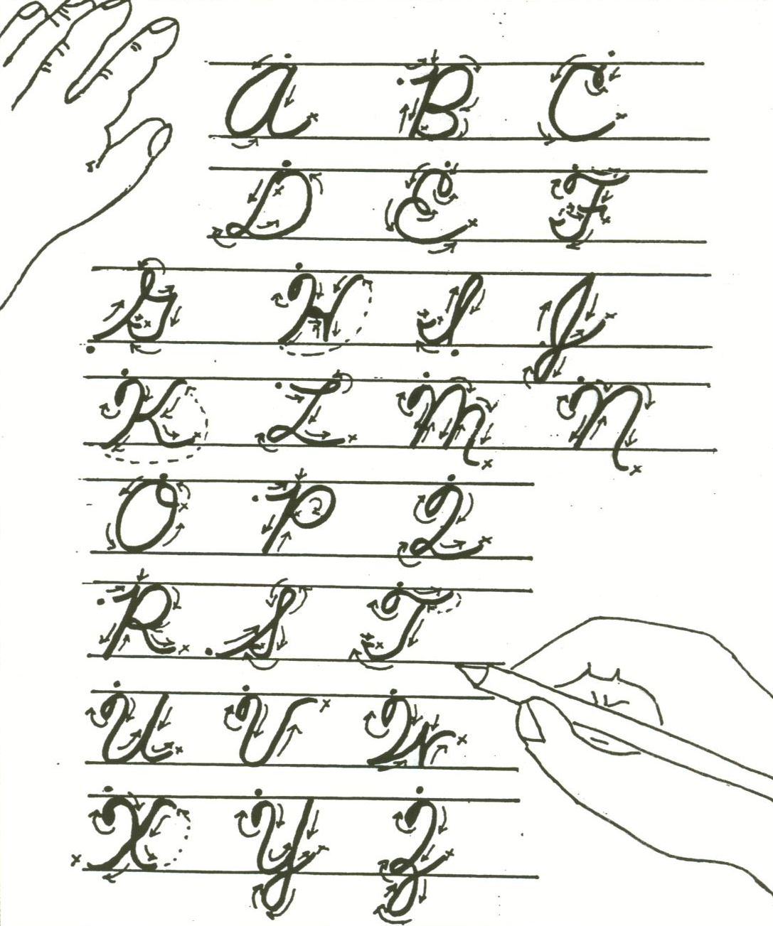 Free Printable Calligraphy Lessons
