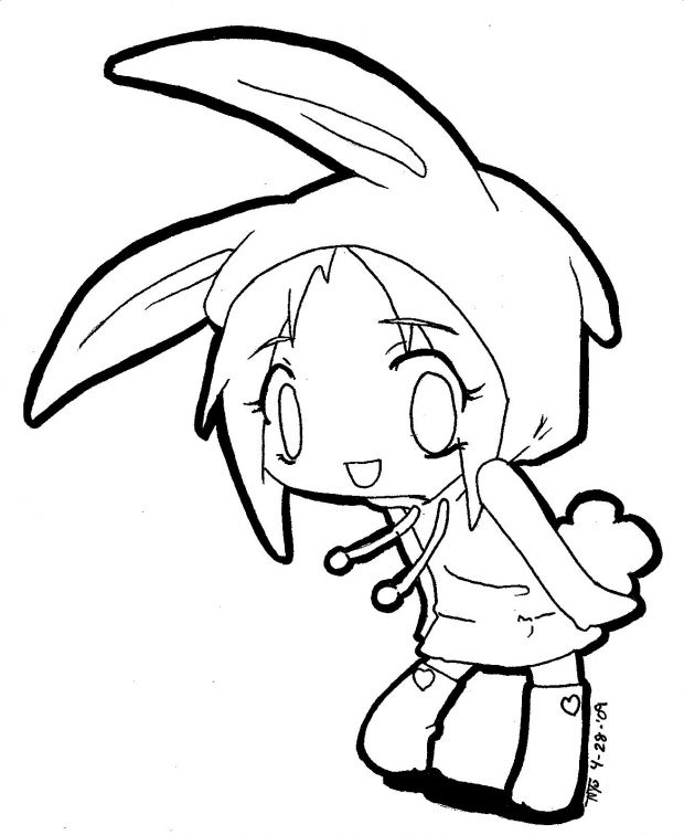 Anime Chibi Girl Coloring Pages | coloring pages | Pinterest | Chibi ...
