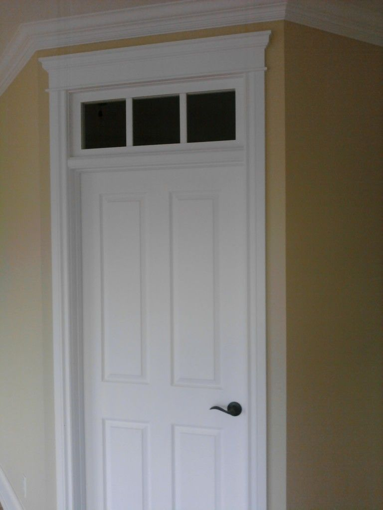 Faux Transom Door And Trim Curved Sill Entry Over Interior