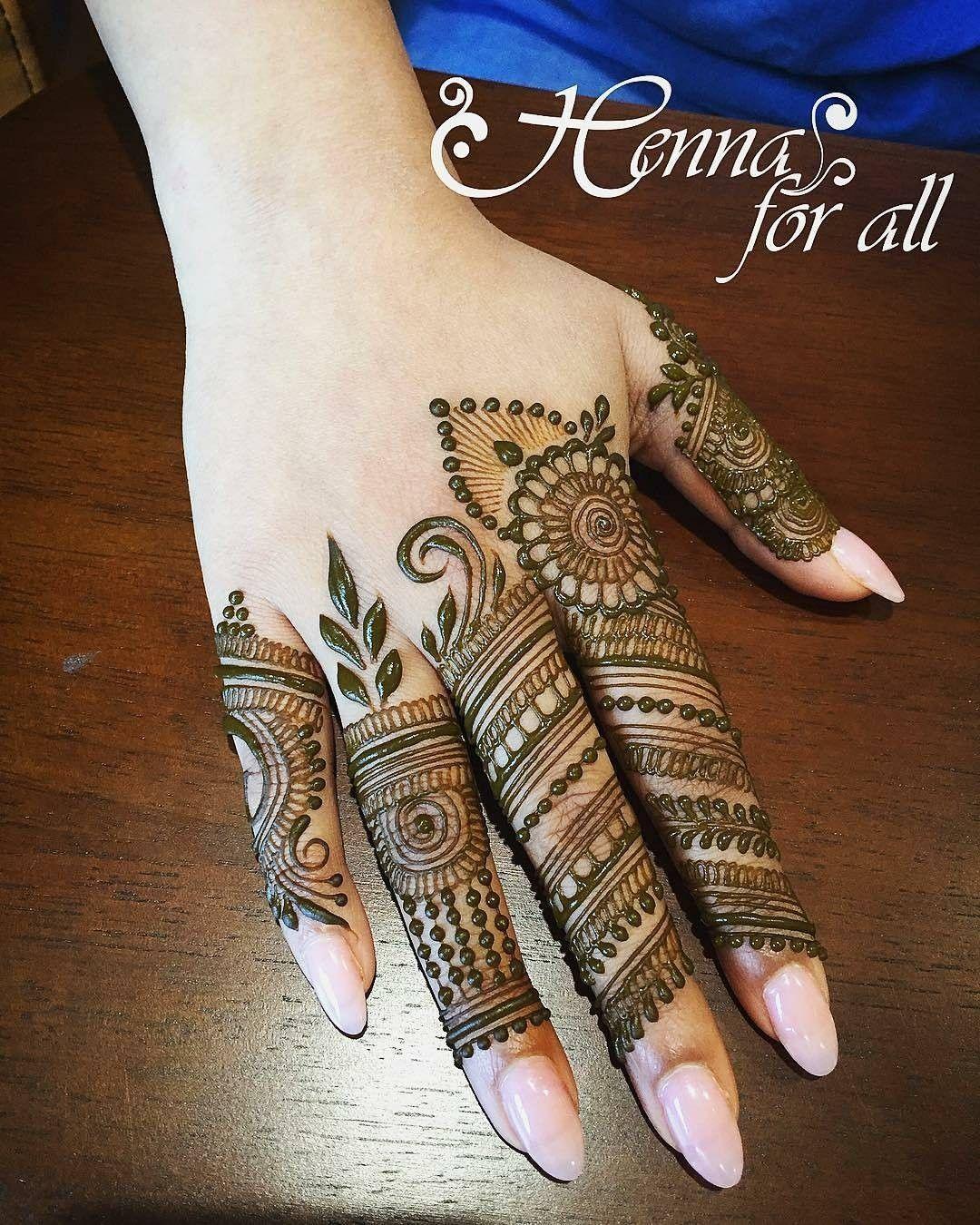 finger mehndi design new