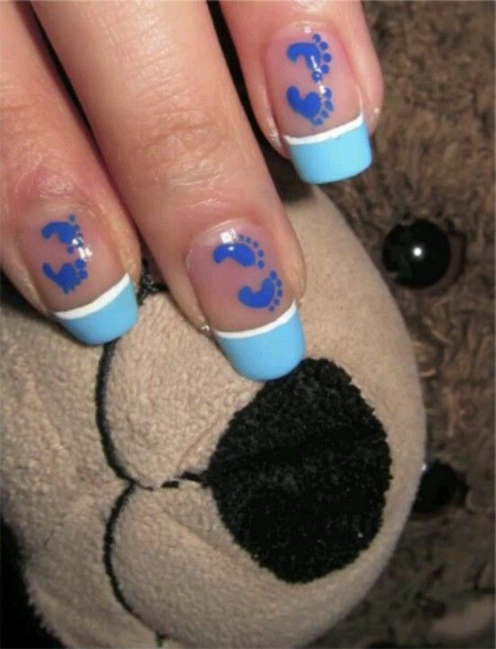 Baby Shower Nails, Definitely Attempting, Baby Shower Wont Be Until Around  My Birthday So