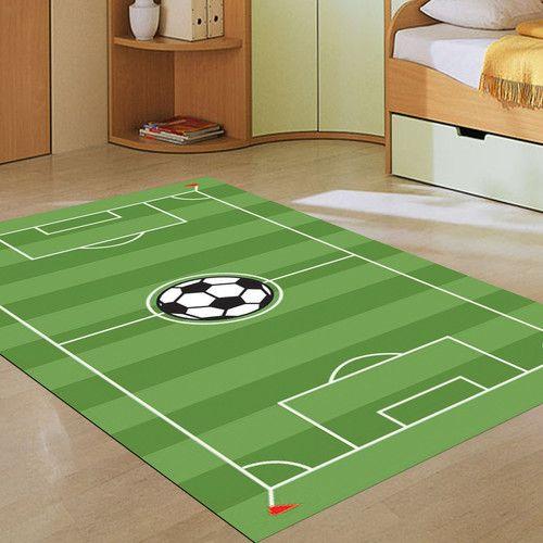 Soccer Pitch Rug Football