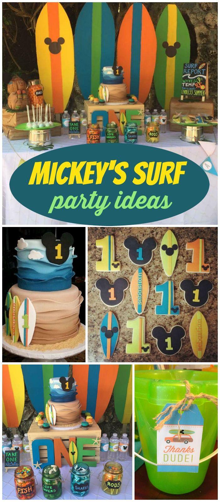 Mickey S Surf Theme Birthday Sebastian S Surf Shack Boy