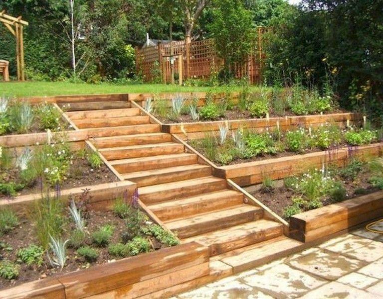 40 Best Large Backyard Ideas On A Budget Backyard Backyardideas Budget Large Backyard Landscaping Sloped Garden Rustic Landscaping