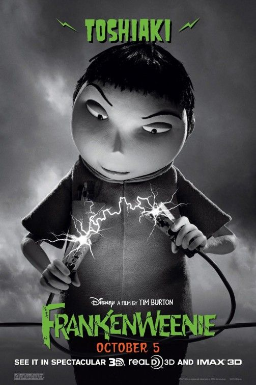 Frankenweenie Movie Poster 6 Tim Burton Tim Burton Movie Disney Movie Posters