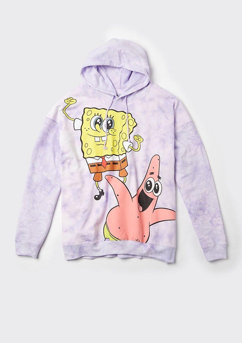 Plus Size Purple Tie Dye Spongebob Hoodie Hoodies Fun Sweatshirts Trendy Hoodies [ 1130 x 800 Pixel ]