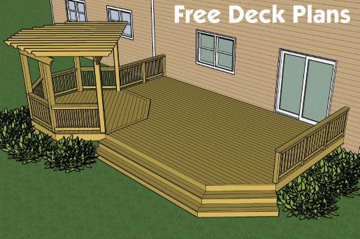 Deck designs and plans free plans builders for Wood deck designs free
