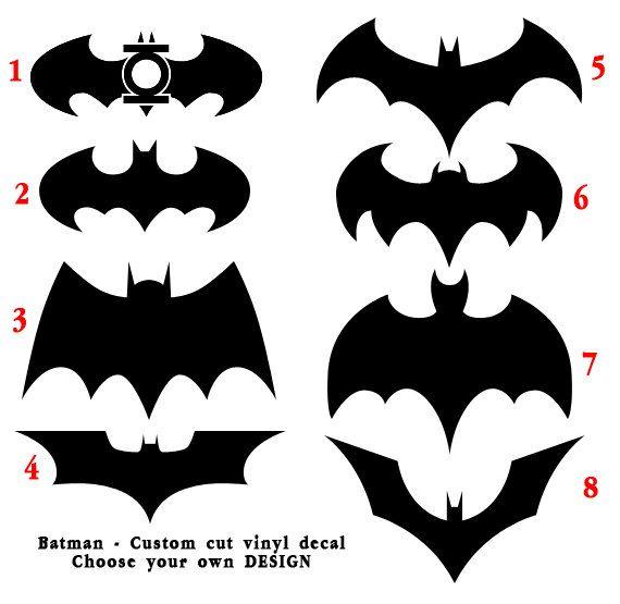 Batman custom indoor outdoor vinyl decal choose one design