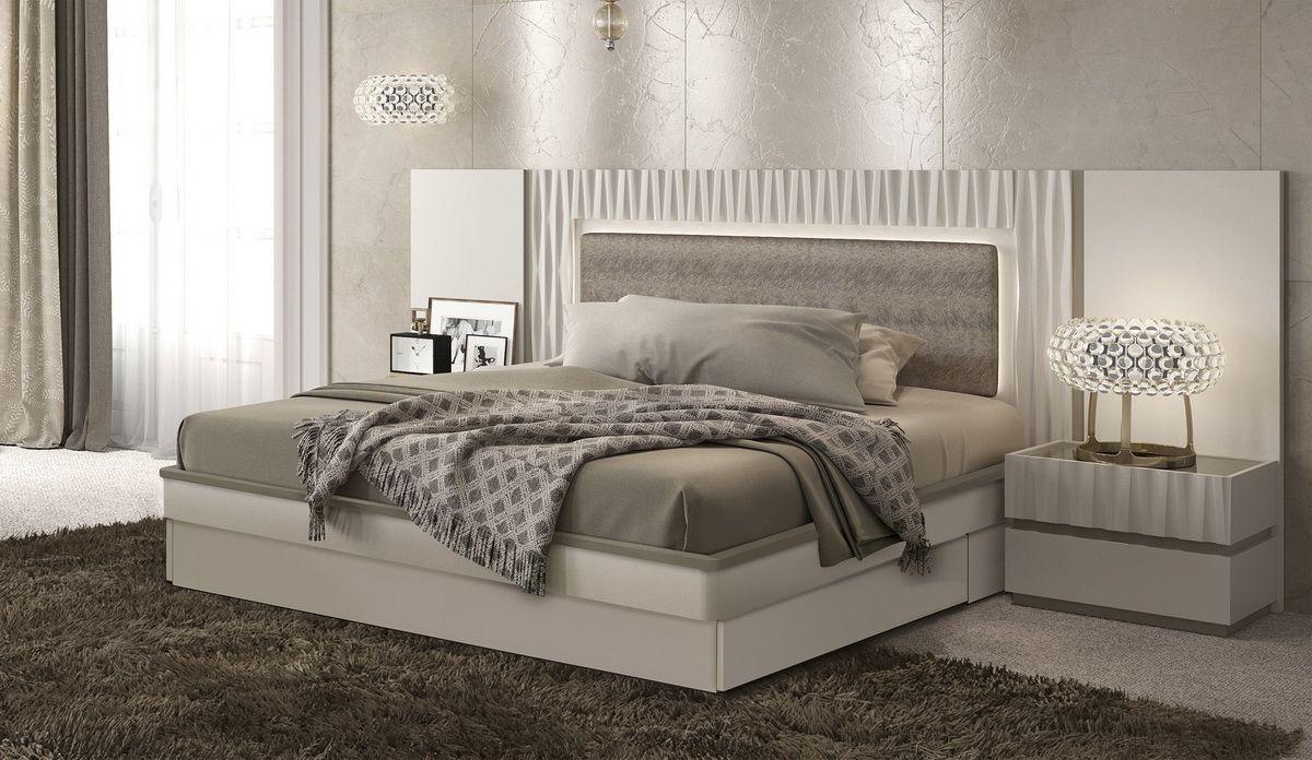Marina Storage Bed In Matte Gloss By Esf Furniture Platform