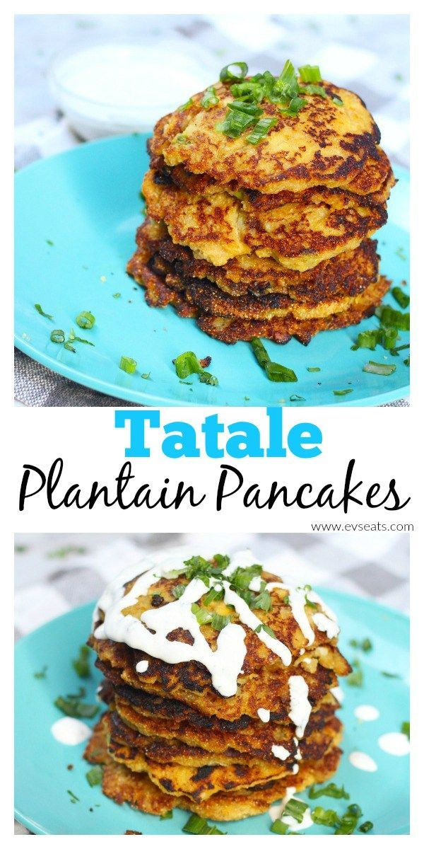 Ghanaian Tatale, spiced fried plantain pancakes that are crispy, sweet,