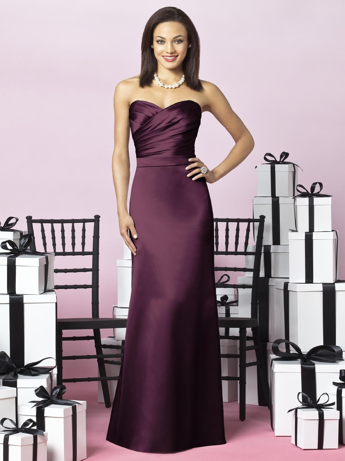 After Six Bridesmaids Style 6628 Satin bridesmaids gowns