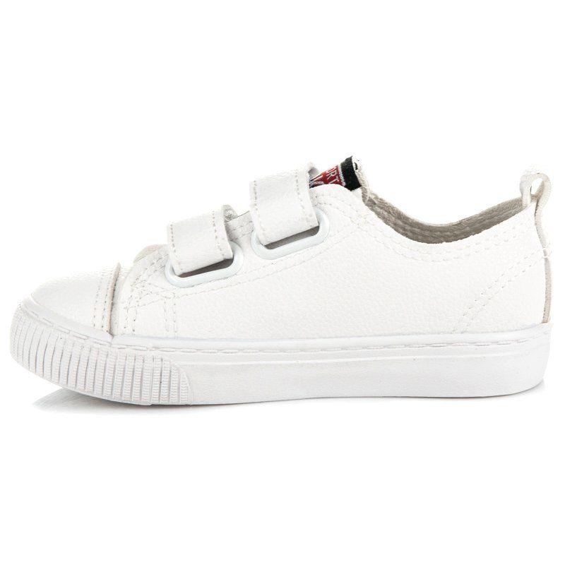Buty Sportowe Dzieciece Dla Dzieci L H Biale Tenisowki Na Rzep Z Eko Skory L H Shoes Sneakers White Sneaker