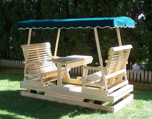 """Keystone Glider With 40"""" Seats And Green Top """"Lawn Swings"""