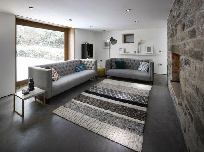 wohnzimmer neu gestalten landhaus altbau, wohnzimmer neu gestalten – moderner landhaus-look für den altbau, Design ideen