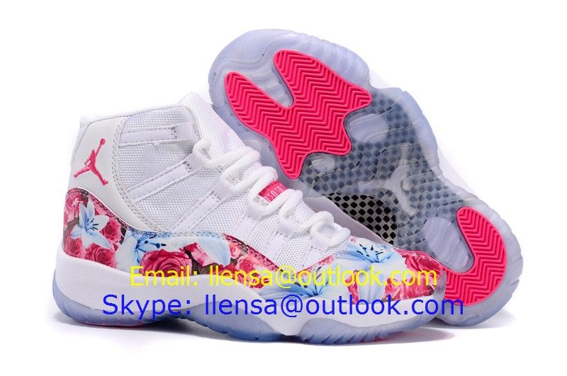 2015 newest womens air jordan 11 retro basketball shoes white pink size  36-40 on