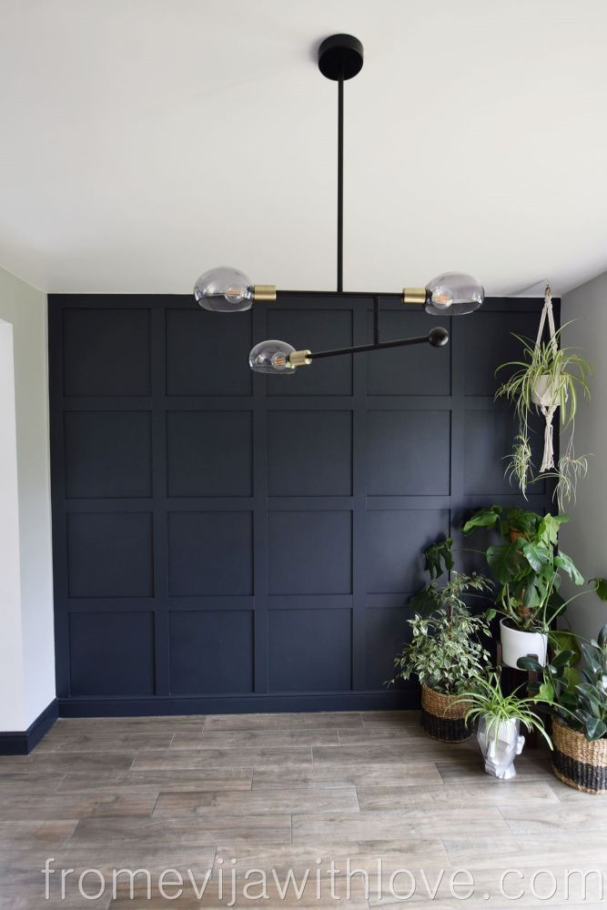 DIY Statement Wall Panneling