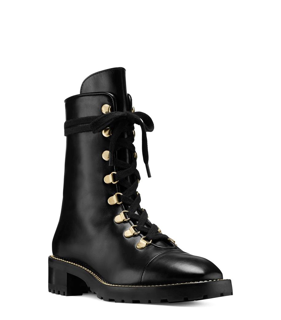 Foot Type Black Molded Biker Boots MINT IN PACKAGE
