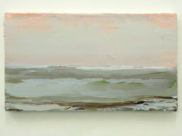 """Coast,"" original landscape painting by artist Matthieu van Riel (Netherlands) available at Saatchi Art #SaatchiArt."