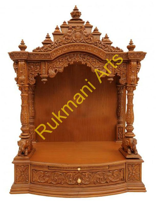 Wood Temple Mandir designs for home with