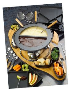 Cheese and Chocolate Fondue recipes - #chocolatefonduerecipes
