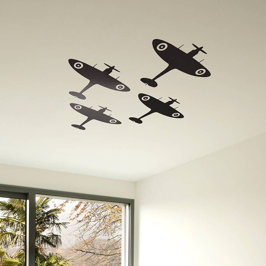 Spitfire Vinyl Wall Sticker By Oakdene Designs | Notonthehighstreet.com