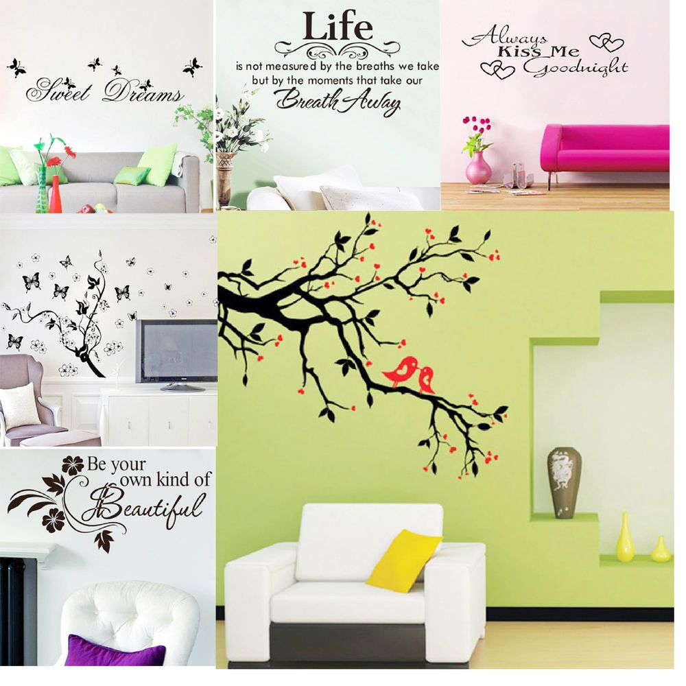 HOT SALE! DIY Removable Art Home Room Decor Vinyl Quote Wall Sticker ...