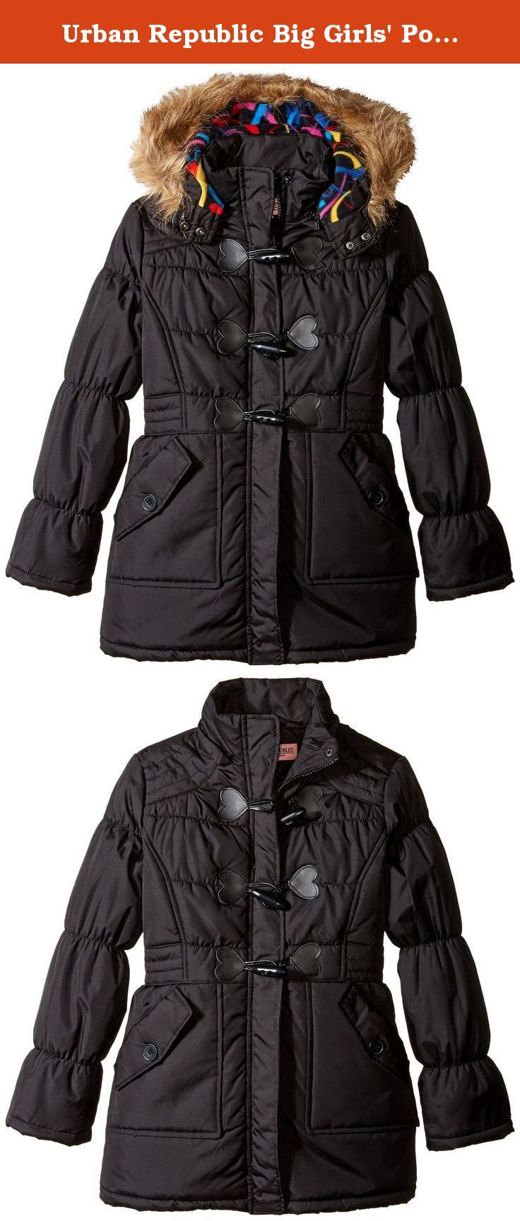 63a3c9923 Urban Republic Big Girls  Polyester Fill Toggle Closure Jacket ...