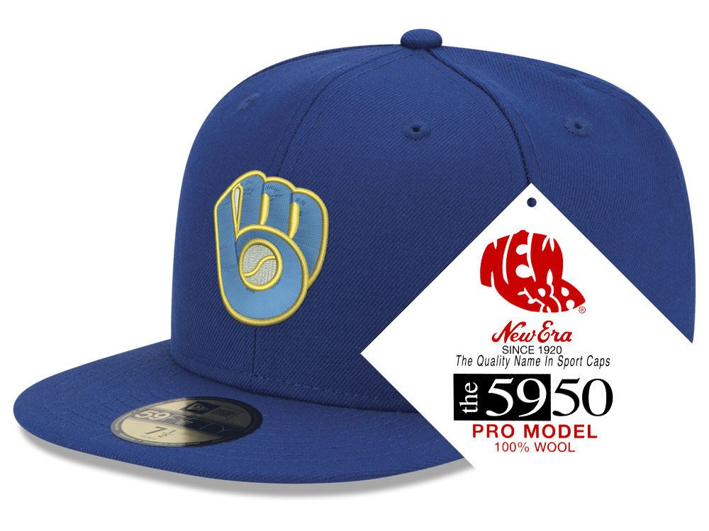 timeless design 85ccc 541ee 20942516 - Milwaukee Brewers New Era MLB Retro Classic 59FIF…