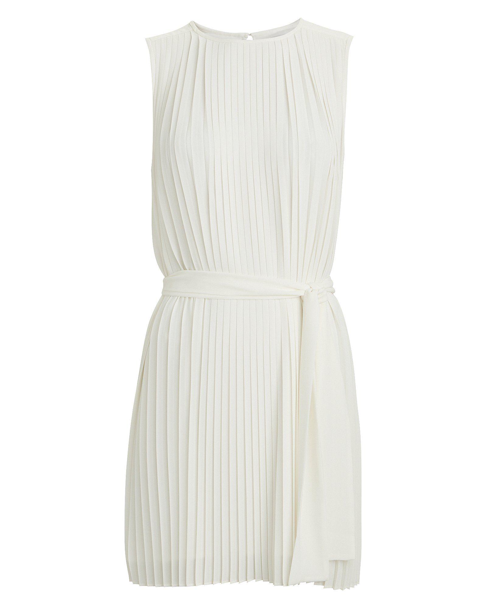 Tilly Pleated Mini Dress Mini Dress White Leather Dress Dresses [ 2000 x 1600 Pixel ]