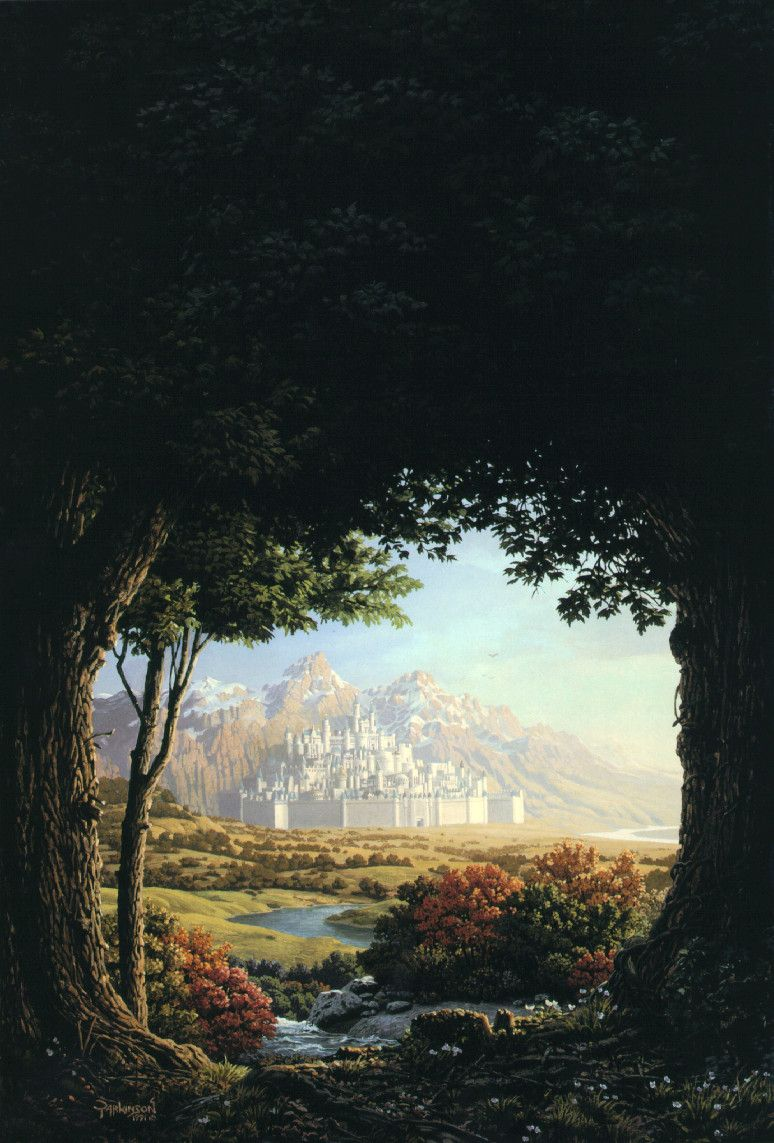 Morgoth in Tolkien's Myths would hide in the shadows outside of towered kingdoms of light and good.