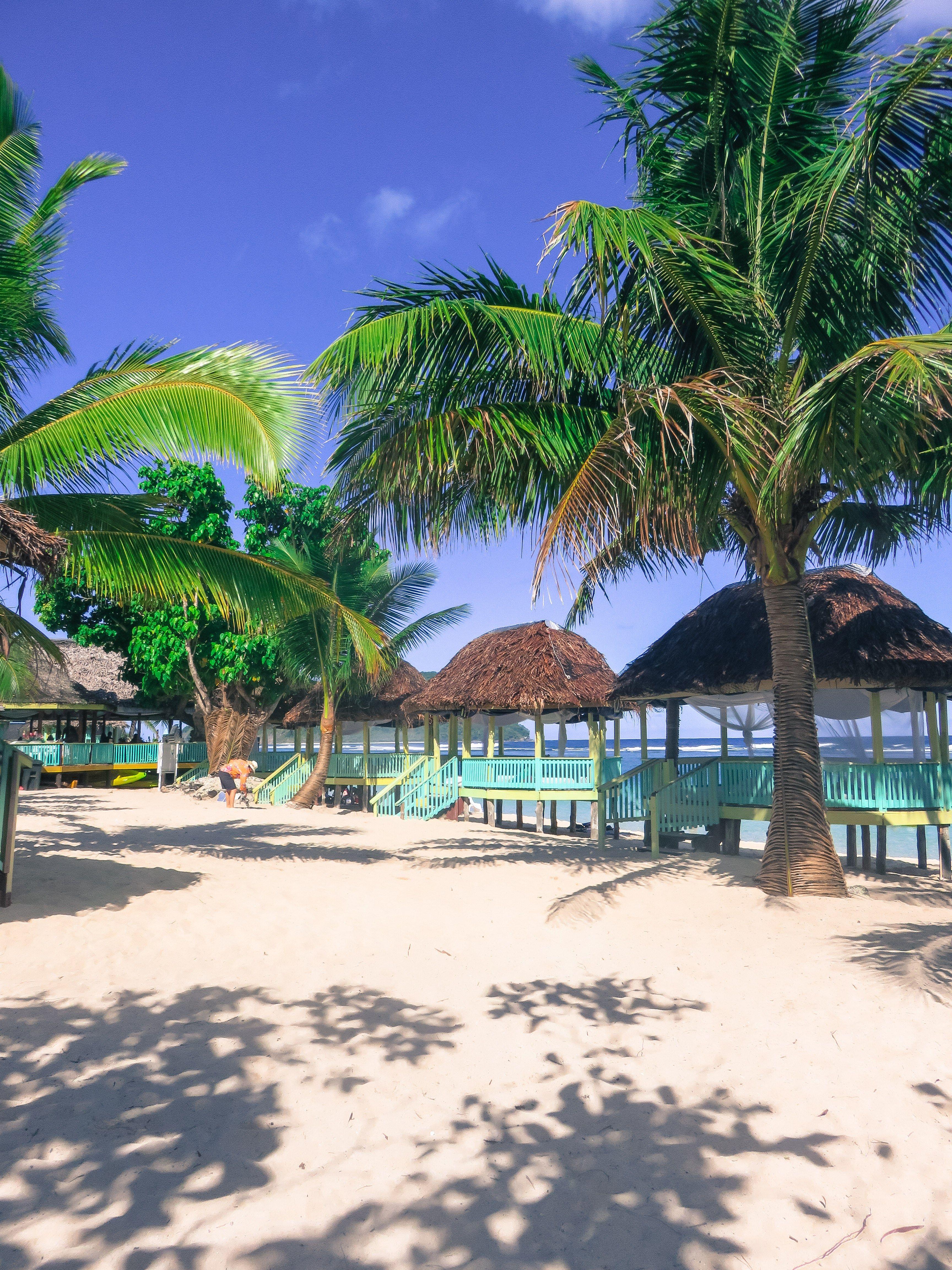Taufua Beach Fales On Lalomanu A Vacation To Samoa