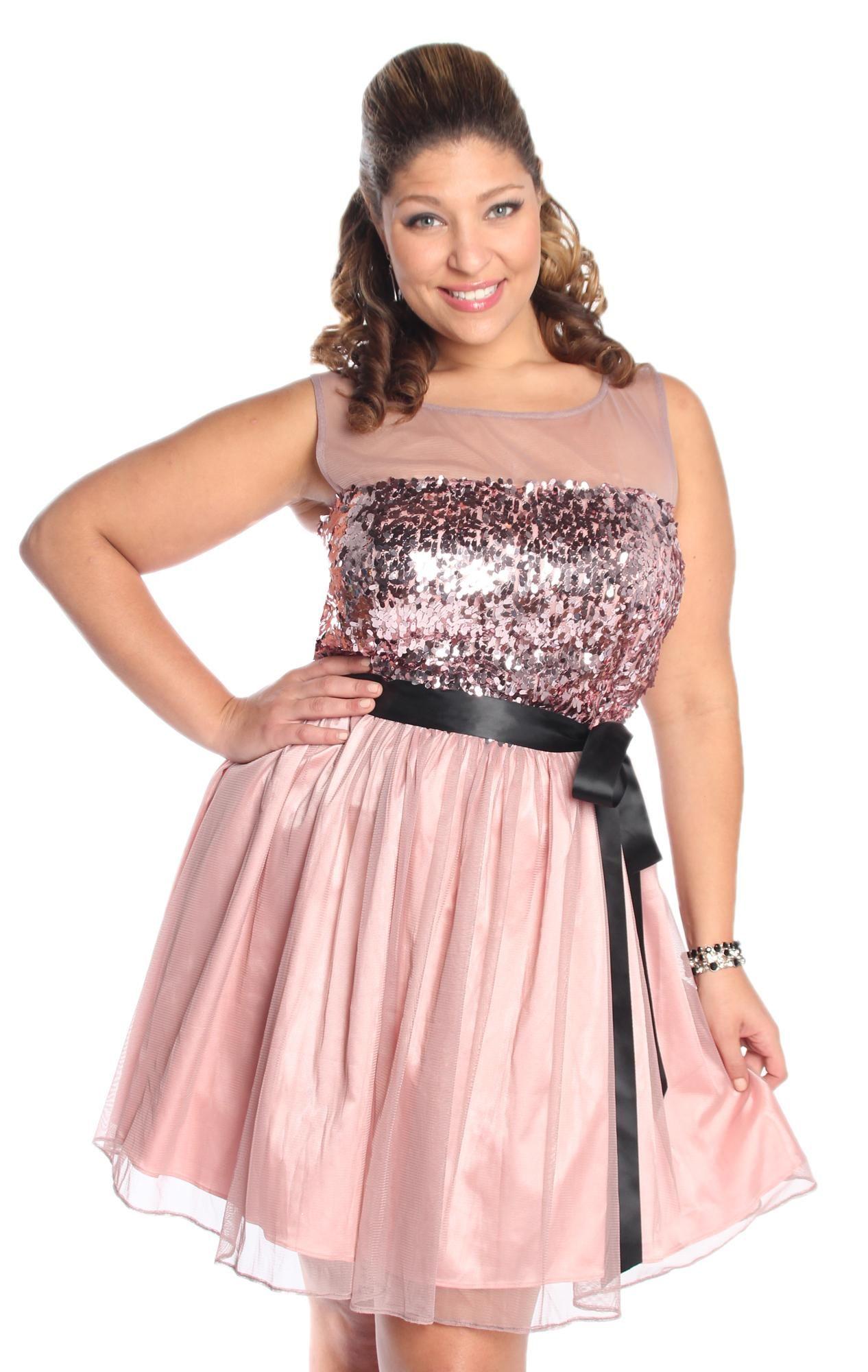 plus size illusion sequin homecoming dress $82.50 | Dresses | Pinterest