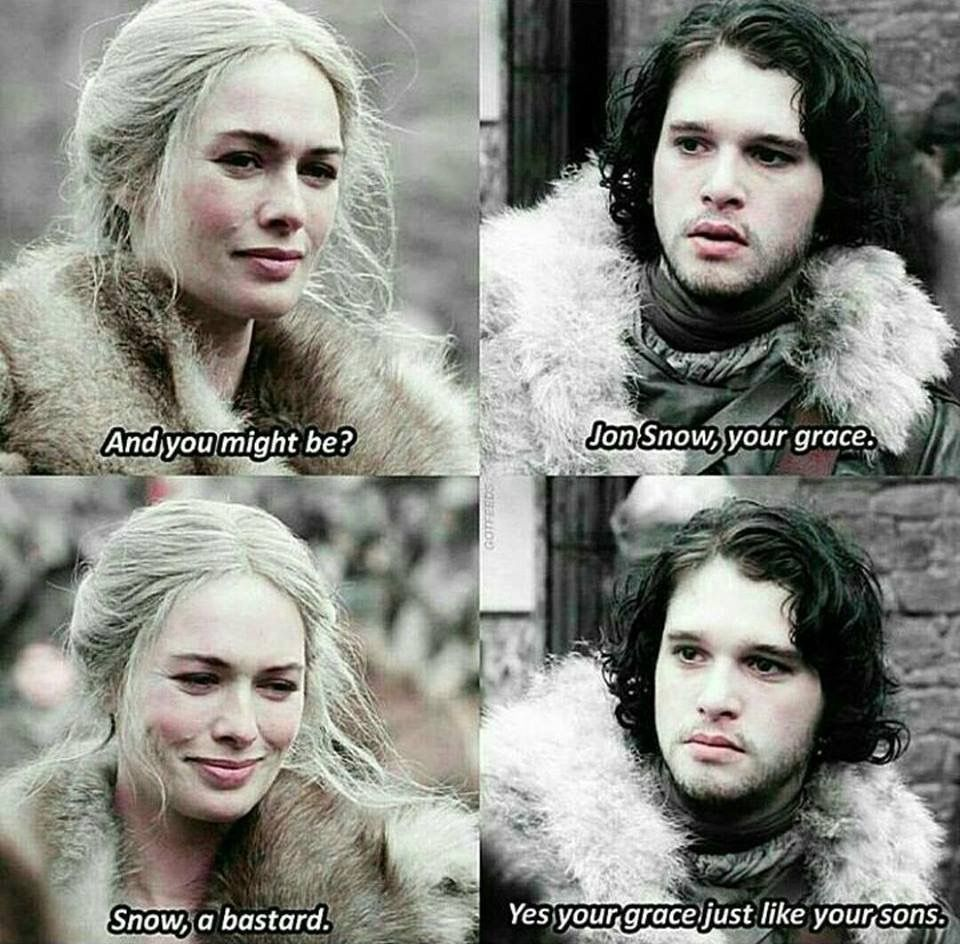 Pin by Veronica Rose on Funny Jon snow, Game of thrones