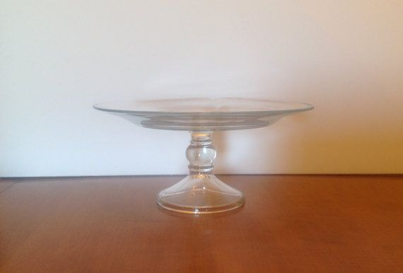 Glass Cake Stand by DecorNBuds on Etsy