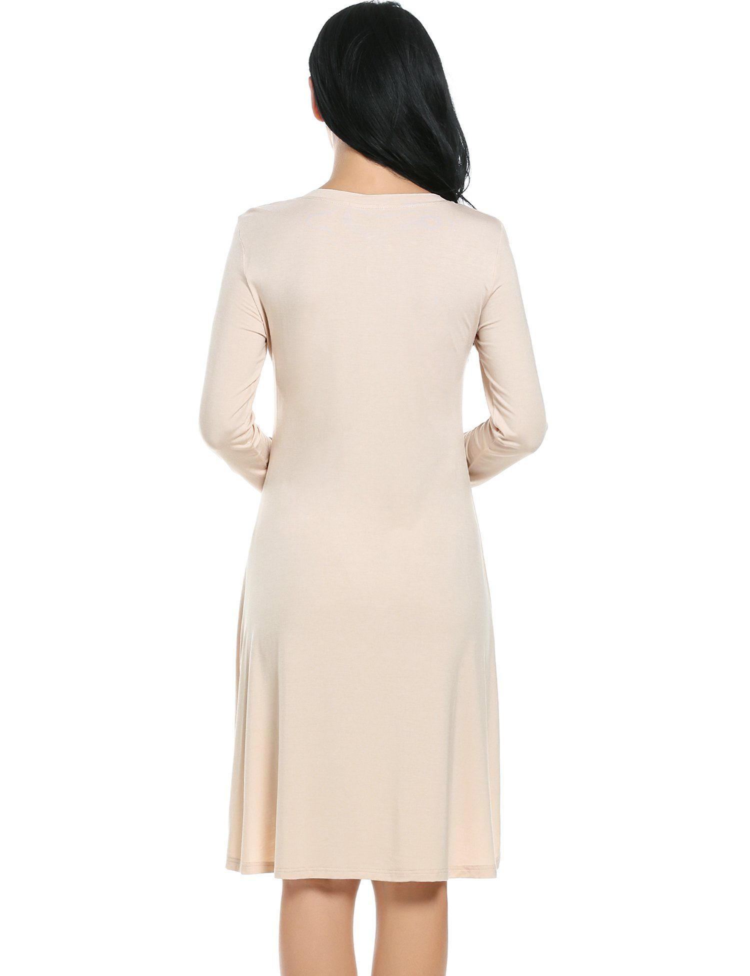 336c3e8f3fa Ekouaer Womens Nightwear Modal Long Sleeve Sleep Dress Apricot Small *  Check this awesome product by going to the link at the image.