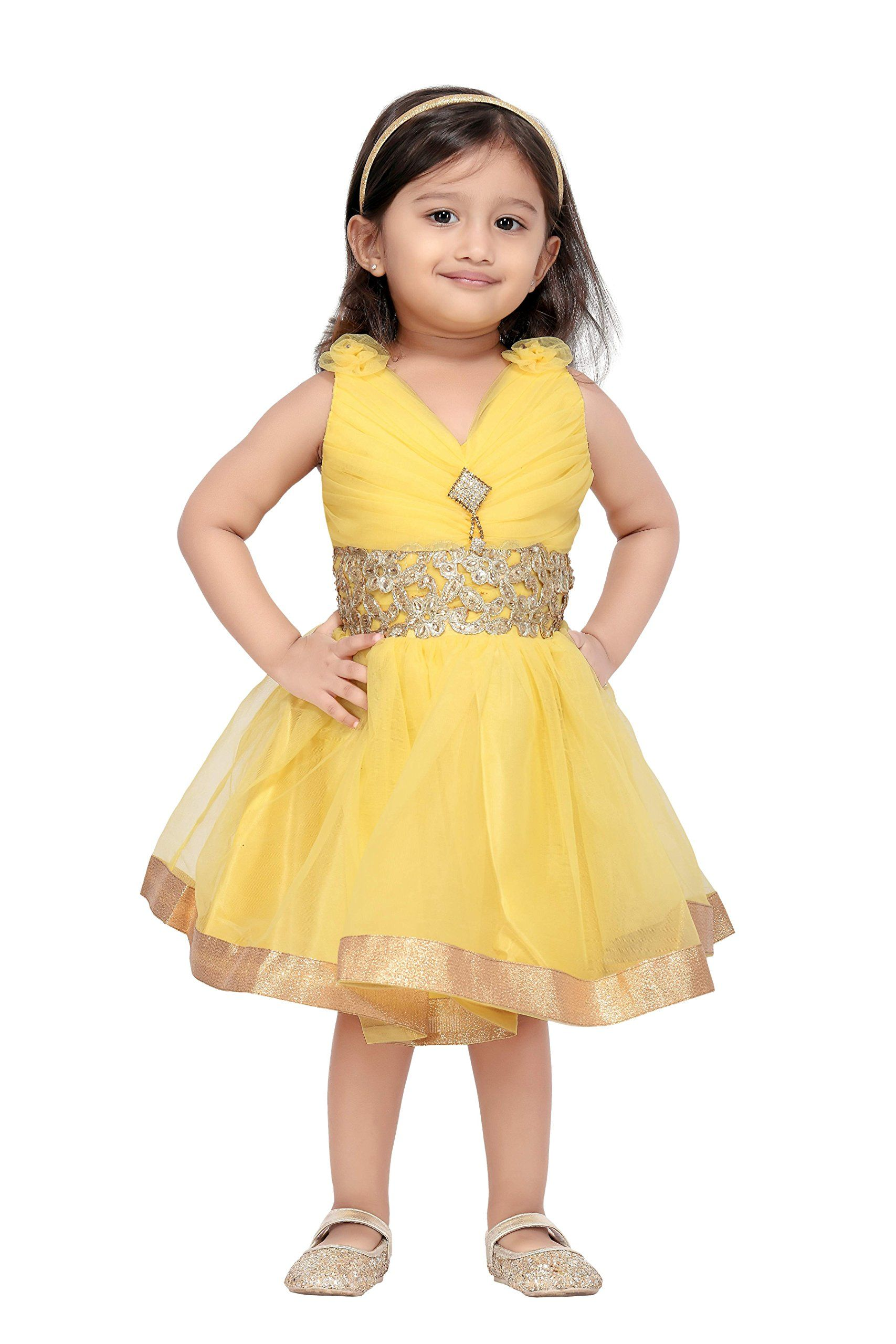 acd5ac04f Aarika Baby Girls' Party Wear Frock: Amazon.in: Clothing & Accessories