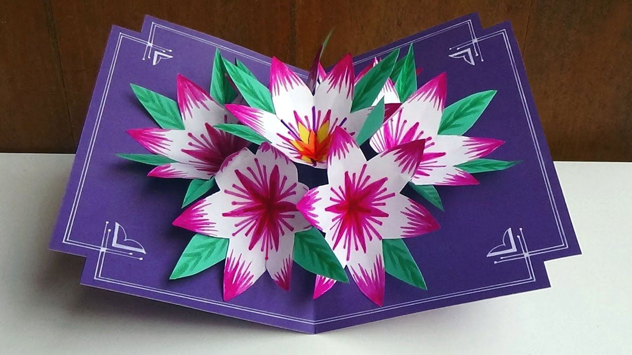 Making A 3d Flower Pop Up Card Easy And Simple Steps Pop Up