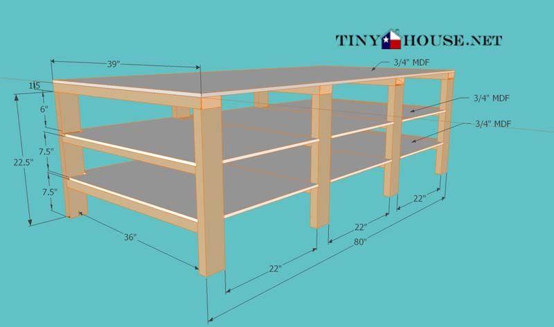 Free Plans Diy Underbed Storage Frame Tiny Texas House Bed